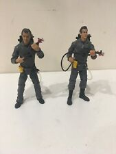 """2 Ghostbusters Action Figure Peter & Ray Stantz 6"""" Figure with Backpack  2009"""