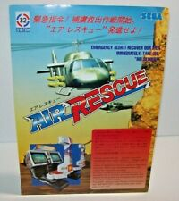 Air Rescue Arcade Game Flyer Sega 1992 Video Game Artwork Sheet Helicopters