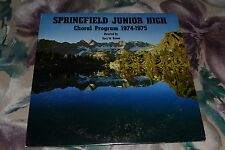 Springfield Junior High Choral Program 1974-1975~Gary M. Brown~FAST SHIPPING