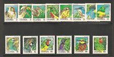 Uganda #1064-1076A VF MNH - 1986 20sh To 4000sh Birds