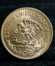1959 Mexico 20 Pesos Veinte Estados Unidos Mexicanos gold coin