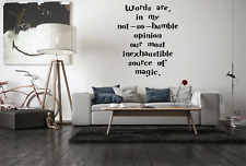Words Quote Dumbledore Harry Potter Film Movie Home Wall Decal Sticker NQ33