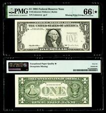 Missing Third Printing Error Fr. 1921-? $1 1995 Fr Note. Pmg Gem Unc 66Epq Star*