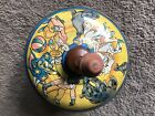 Vintage Tin Pump Spinning Top Circus Made In France Large 9 Inch A Balanche