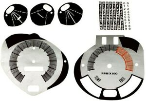 Premium Dash Decal 69 AMC Javelin AMX FULL KIT 140MPH with TACH SILVER/BLACK