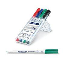Staedtler 301 WP4 Lumocolor Drywipe/Whiteboard Pen - Assorted, Pack of 4