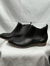 Robert Wayne Oklahoma Black Leather Chelsea Men's Boots Size 10 D