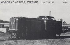 AK UNREAD Morop Congress Sweden litt. T23 113 Baden Model järnvägs (G2568)