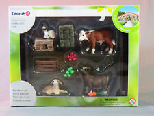 Schleich Farm Animal Feed SET Scenery Pack rabbits goat calf lamb food 21052