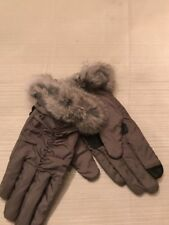 NWT Echo touch Grey  gloves with Rabbit fur  size medium #4G