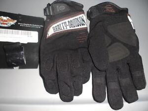 NOS Harley Davidson Womens Waterproof Reflective Technology Gloves 97232-14VW