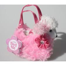 "Fancy Pals Poodle Dog in Pink Fluffy Bag 8""/20cm Soft Plush Toy Aurora"