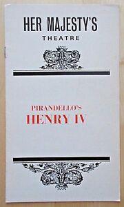 Henry IV programme Her Majesty's Theatre 1974 Rex Harrison Yvonne Mitchell 4.2