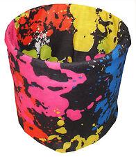 Black Art Paint Spot Tubular Multi Function Headwear Balaclava Beanie Cap Scarf