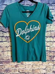 Womens NFL Team Apparel Miami Dolphins 🐬 Heart Aqua XS Rare Only One On Ebay🔥