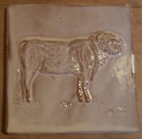 bull tile handmade, low relief tile, farmhouse kitchen, Helen Baron