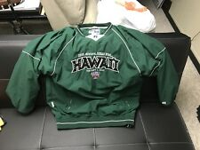Hawaii 2008 Allstate Sugar Bowl Coat Jacket Pull Over Windbreaker Russell Light