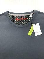 Robert Graham Geometric Solid Crewneck T-Shirt Charcoal Gray Mens 2XL $88