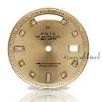 For Rolex Day-Date President 1803 Champagne 8+2 Baguette Diamond Hour Marker