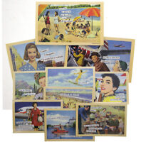 "10pk Anne Taintor 4x6"" Magnetic Postcards Set Refrigerator Funny Retro Comic Art"
