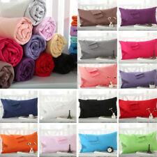 NEW Solid Queen/Standard Cotton Pillow Case Bedding Pillowcase Smooth Home Gift