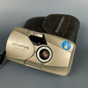 Classic Olympus MJU II All Weather 35mm Point And Shoot Camera + Original Case