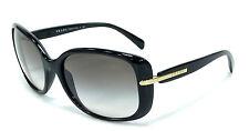 CLASSY NEW Lightweight PRADA Ladies Designer Black Gold Sunglass SPR 08O PR 08OS