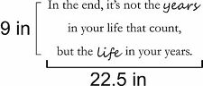 In The end Its not the years quote wall vinyl decal
