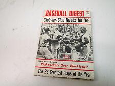 JAN.  1966 BASEBALL DIGEST -SANDY KOUFAX COVER