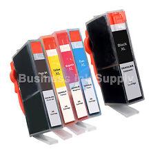 5* PK 564XL New Ink Cartridge W/CHIP 564XL *INK LEVEL 564XL 1BK+3CLR+1PH for HP