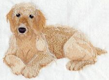 GOLDEN DOODLE Dog Rare SET OF 2 HAND TOWELS EMBROIDERED By Laura