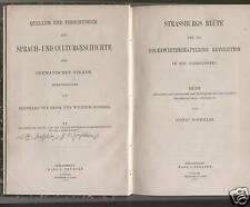 Schmoller, Strassburg Blüte Volkswirtschaft Mittelalter, Elsaß, Rede Univ. 1874