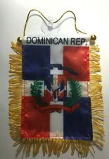 (Updated) Dominican Republic  Mini Banner Flag Great For Car  Mirror Hanging