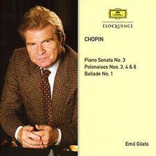 Emil Gilels Chopin Piano Sonata No. 3 Polonaises N CD
