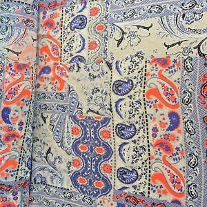 "Flowing Ethnic Paisley CHIFFON Sheer Lingerie curtains Shawl Fabric 60"" YD"
