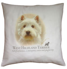 West Highland Terrier Dog | 100% Cotton Cushion Cover with Zip | Howard Robinson