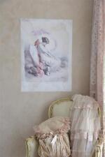 Jeanne d´Arc Living Poster Banner Fallen Angel Engel 29,5x42 Pink Shabby Vintage