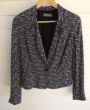 Jacqui E Women's Black & White Jacket - Size 8