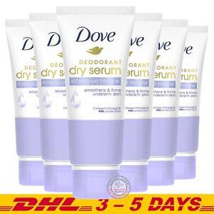 Dove Intensive Renew Deodorant Dry Serum Collagen + Omega 6 , 50ml x 6