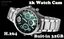 Built-in 32GB HD 2K Spy Wearable Watch Camera Spy Camera Watch Mini Watch Cam UK