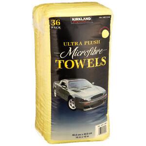 Microfibre Cloths Kirkland Signature Yellow Towels Ultra Plush (36 Count) 1 Pack