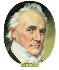 Vtg President James Buchanan Die Cut Face Paper Wall Decoration New Old Stock