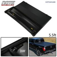 For 2004-15 Nissan Titan 4-Door 3-Fold Tonneau Cover Kit 5.5Ft Short Bed Black