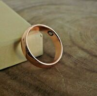 Pure Solid Copper Magnetic Ring - Arthritis Therapy Energy 6 mm Dome Ring
