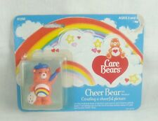 "Care Bears Cheer Bear 2"" PVC Miniature Figure Kenner 1984 Vintage"