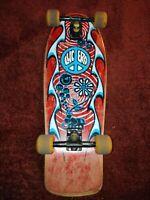 Original Vintage John Lucero Street Thing Skateboard 1980's 80s clouds variflex