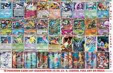 30 Pokemon Card Lot: TCG Guaranteed (1) Ex, Lv. X, Legend, Mega or Full Art Holo