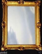 Espejos Arte Y Antigüedades Espejo De Pared Antiguo Ovalado Oro Blanco Baño 51x37 Shabby Barroca C496