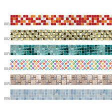 3D Mosaik Fliesenaufkleber Wandaufkleber Fliesenfolie Klebefolie für Bad