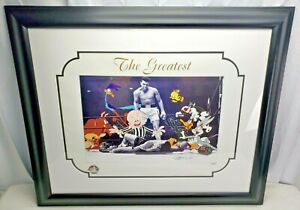 MUHAMMAD ALI Autograph Lithograph by WARNER BROS. COA LOONEY TUNES THE GREATEST